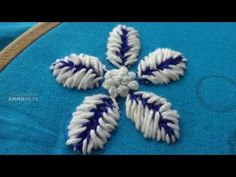 Hand Embroidery Flower Stitch - Embroidery By Amma Arts - YouTube