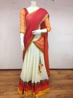 Half saree!!!