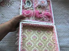 Altered Shabby Chic Cigar Box Marie Antoinette