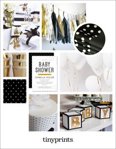Glamorous Black and Gold Baby Shower Inspiration | Tiny Prints Blog