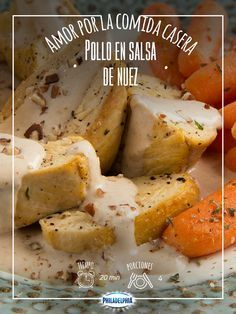 Todos amamos el sazón que le pone mamá a la comida, como este Pollo en salsa de nuez. My Favorite Food, Favorite Recipes, Mexican Food Recipes, Healthy Recipes, Xmas Food, Fat Foods, Food Humor, 20 Min, Kitchen Recipes
