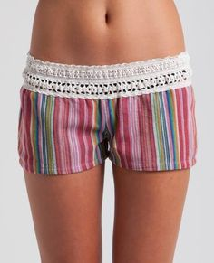 GYPSY SHORT // Ditch your denim for these cool yarn dyed stripe shorts Sleepwear & Loungewear, Nightwear, Boho Fashion, Girl Fashion, Diy Clothes, Clothes For Women, Striped Shorts, Comfortable Outfits, Playing Dress Up