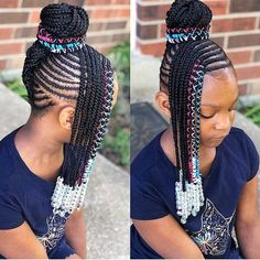 53 Box Braids Hairstyles That Rock - Hairstyles Trends Little Girl Braids, Black Girl Braids, Braids For Black Hair, Girls Braids, Mohawk Braids For Kids, Box Braids Hairstyles, Kids Braided Hairstyles, My Hairstyle, Black Kids Hairstyles