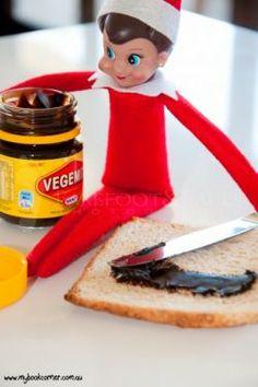 elf on the shelf with vegemite