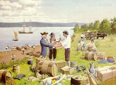 Acadians traded for goods they could not produce themselves with goods they had in abundance: Although the Acadians were remarkably self-sufficient, there were some things they could not make or grow themselves, and for these needs they established trading links with New England and with other French settlements.