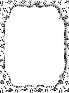 Free printable music border for binder covers etc Boarder Designs, Page Borders Design, Borders For Paper, Borders And Frames, Music Border, Music Symbols, Music Drawings, Music Worksheets, Music Illustration