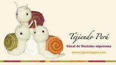 How to knit a crochet snail (snail amigurumi) Crochet Snail, Crochet Animals, Crochet Toys, Free Crochet, Crochet Flower Tutorial, Crochet Doll Pattern, Crochet Flowers, Crochet Patterns, Crochet Basics