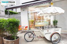 Italian mobile gelato icecream cart for client - GATTAMELATA - San Paolo - Brasil |