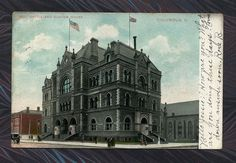 Post Office and Custom House Columbus Ohio ... Vintage  1908