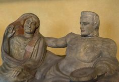 """Bottarone Urn"" Alabaster urn 5th – 4th century BC From Città della Pieve, Perugia Florence, Museo Archeologico Etrusco"