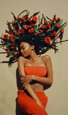 vine of love: locs and roses