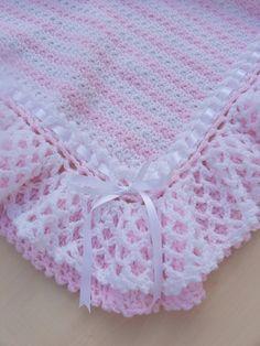 Hand crochet Baby blanket afghan by abilena
