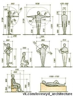 The human form in design - ergonomics Autocad, Architecture Details, Interior Architecture, Sketch Architecture, Human Dimension, Design Textile, Design Reference, Pose Reference, Industrial Design