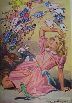 """Alice in Wonderland'' 1952 by Eileen Soper"