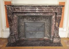 This very beautiful antique Napoleon III style fireplace was made out of a magnificent and rare Levanto Red marble during the century. This lower part of the jambs is decorated with the legs of lions. The top of the jambs are very curved. William And Mary, English Country Style, Rococo Style, Hearth, Making Out, Baroque, Lions, Renaissance, 19th Century