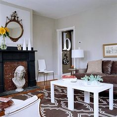 lack side tables as coffee table