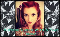 EASY 1940's Notebook style vintage hair using a Nume flat iron by CHERRY DOLLFACE