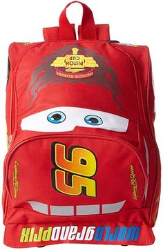 6d4f9edf9cf0 Disney Big Boys  Cars Lightining Mcqueen Mini Rolling Backpack Back To School  Backpacks