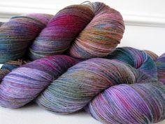 Hand dyed Superwash Merino & Nylon Sock Yarn - Anyong. $23.00, via Etsy.
