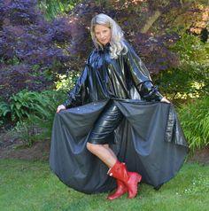 Raincoats For Women Long Sleeve Green Raincoat, Pvc Raincoat, Hooded Raincoat, Plastic Raincoat, Raincoats For Women, Jackets For Women, Clothes For Women, Rubber Raincoats, Boots