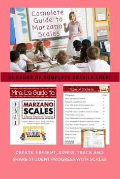 Mrs. L's Guide to Marzano Scales - Mrs. L's Leveled Learning