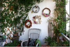 Balcony decoration wreaths are inexpensive way to add decor