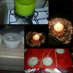 stap 1 smelt restjes kaars stap 2 giet het in een silicone vorm waarbij je lont in het midden hebt gehangen stap 3 als het afgekoeld en uitgehard is uit de vorm halen stap 4 genieten van een brandend eindresultaat #zelfgemaakt #kaarsen #homemade #candles