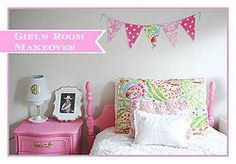 Girl's Room in Pink/White/Gold Decor!