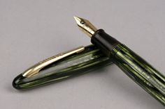 Sheaffer Marine Green Striated Craftsman by ThreePointsofView