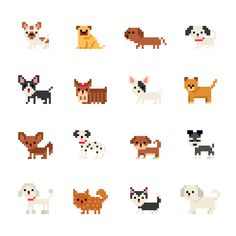 Discover recipes, home ideas, style inspiration and other ideas to try. Dog Vector, Vector Art, Vector Icons, Cross Stitching, Cross Stitch Embroidery, Cross Stitch Patterns, Shih Tzu, Dogs Tumblr, How To Pixel Art