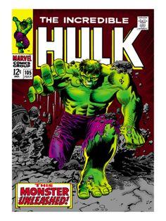 Marvel Comics Retro: The Incredible Hulk Comic Book Cover #105 Premium Poster at Art.com