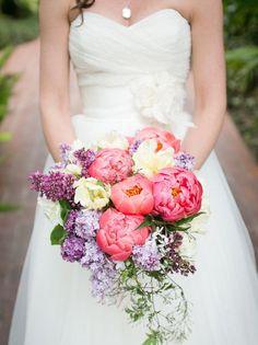 Spring Wedding Flowers in Season: Peony   SouthBound Bride   http://www.southboundbride.com/flowers-in-season-spring   Credit: Kaysha Weiner Photographer/Lydia Ross Events/Blue Magnolia Events via Ruffled