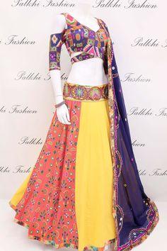Designer Full Flair Chaniya Choli With Beautiful Blouse & Dupatta Indian Bridal Outfits, Indian Designer Outfits, Indian Dresses, Indian Clothes, Garba Dress, Prom Outfits, Beautiful Blouses, Saree Blouse Designs, Dream Dress