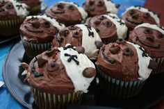 Ewok cupcakes! I'm making these for Mark. :-)