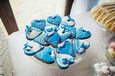 """Пара выбрала для своей свадьбы бело-синий цвет. Даже закуски оформлены в таком цветовом сочетании. Главная свадебная резиденция Киева - """"Горный ручей"""""""