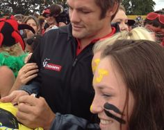 World #rugby star Richie McCaw signs autographs at the Crusaders vs Hurricanes pre-season game at Mangatainoka near #palmerstonnorth #events #blog
