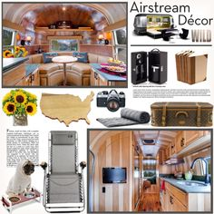 """""""{airstream decor}"""" by snooty-pets on #Polyvore!v Snooty Pets is a Las Vegas pet bakery, grooming salon and boutique. Always fresh ingredients, we bake our wholesome treats in small batches daily so rest assure they will arrive to you super fresh. Order today: https://snootypets.com #DogLovers #Dogs #Puppies #DogTreats #DogGrooming #PuppyTreats #HomeDesign #InteriorDesign #HomeDecor"""