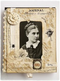 """""""Her Family Journal"""" Altered Book Cover"""
