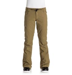 DC Shoes© Womens Viva Snow Pant - Snow pants for women from DC Shoes. Features include: EXOTEX 15 15 warmth & lining: taffeta lining with brushed tricot panels, and fully taped seams. Mens Ski Wear, Slim Thighs, Snowboarding Women, Star Wars, Beanie, Snowboard Pants, Black Down, Womens Parka, Snow Pants
