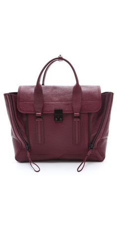 the new it bag? philip lim's pashli tote. it's especially striking (and ready for autumn) in this gorgeous burgundy.