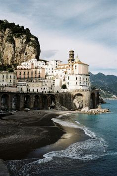 Seaside town of Atrani, one of the towns at the Amalfi Coast.  Would love to see this one day.