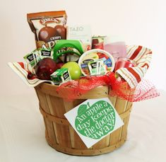 An Apple a Day Keeps the Doctor Away! A Get Well Apple Basket for a Friend!
