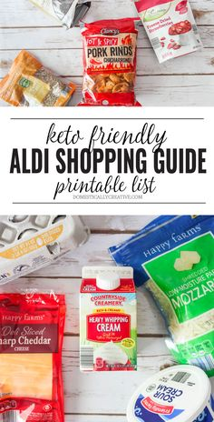 Easy Keto friendly Aldi shopping guide you can print and take with you to the store! Eating well doesn't have to cost a ton   #ketogenicshoppinglist #ketoshoppinglist #ketodietshoppinglist #aldishoppinglist #aldishoppingguide #ketoshoppingguide Ketogenic Diet Meal Plan, Keto Meal Plan, Diet Meal Plans, Low Carb Shopping List, Keto Shopping List, Aldi Meal Plan, Keto On A Budget, Keto Food List, Keto Drink