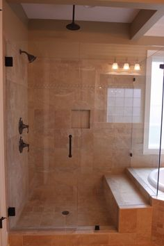 master bath: great use of space and transition shower-tub