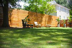 privacy fence ideas patio | The Skyline Wood Privacy Fence - fencing - atlanta - by Fence Workshop