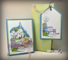 """This card features """"Beach"""" part of the TryFolds series from Art Impressions. Available at www.addictedtorubberstamps.com, SKU 575566."""