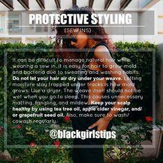 Hair Maintenance for Sew ins ✨ . . . #naturalhairtips #hairtips #naturalhairproblems #blackgirlproblems #weave #weavetips