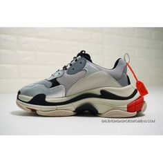 82805732df2e Balenciaga Triple-S Sneaker 490672 W0903 1081 Retro Daddy Shoes Silver Grey  Beige Black Red Best