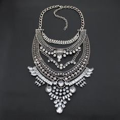 Dutiful Silver Clear Indian Kundan Head Piece Chain Matha Patti Crystal Jewellery New 13 Wide Varieties Jewelry & Watches Fashion Jewelry