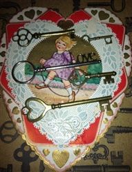 5 Assorted Vintage Look Keys Hearts Love Perfect for Valentine ~ Weddings~ Key to My Heart $6.99
